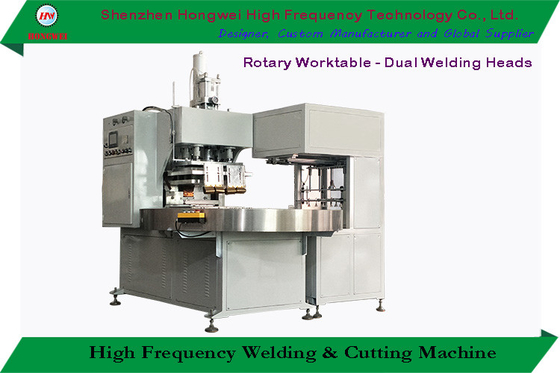 2 Welding Head Plastic Heat Sealing Machine High Efficiency Rotary Worktable